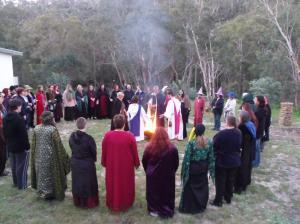 Ritual at Spring Camp, 2013.